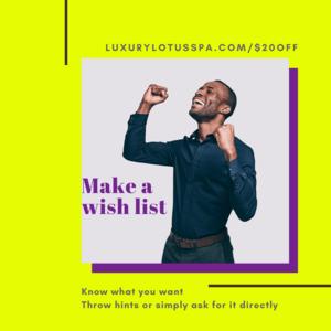 make a wishlist